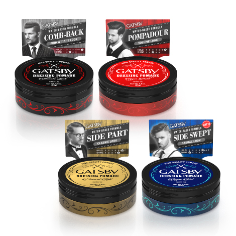 GATSBY POMADE package design
